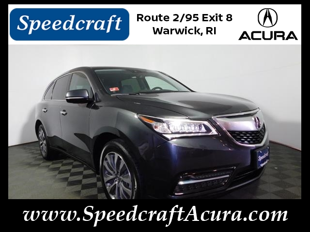 Acura Certified Pre Owned 2 >> Certified Pre Owned 2016 Acura Mdx Sh Awd With Technology Package